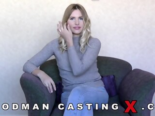 LobsterTube blonde casting cumshot