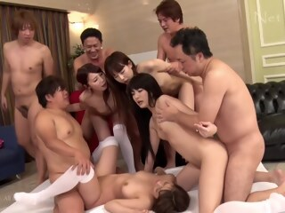 LobsterTube asian big ass group sex
