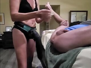 LobsterTube anal blonde sex toy