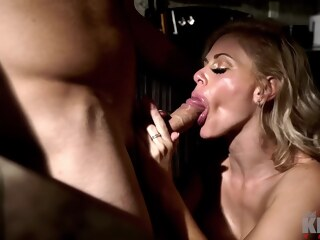 LobsterTube big tits blonde cumshot